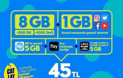 GNÇ Süper 8GB Paketi 45 TL
