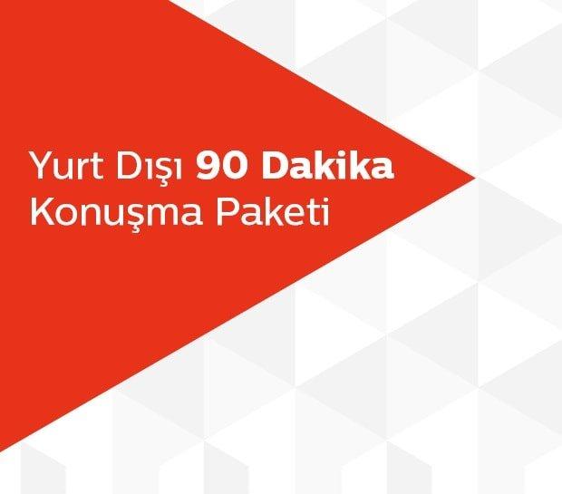 Türk Telekom Yurt Dışı 90 Dakika Konuşma Paketi 55 TL